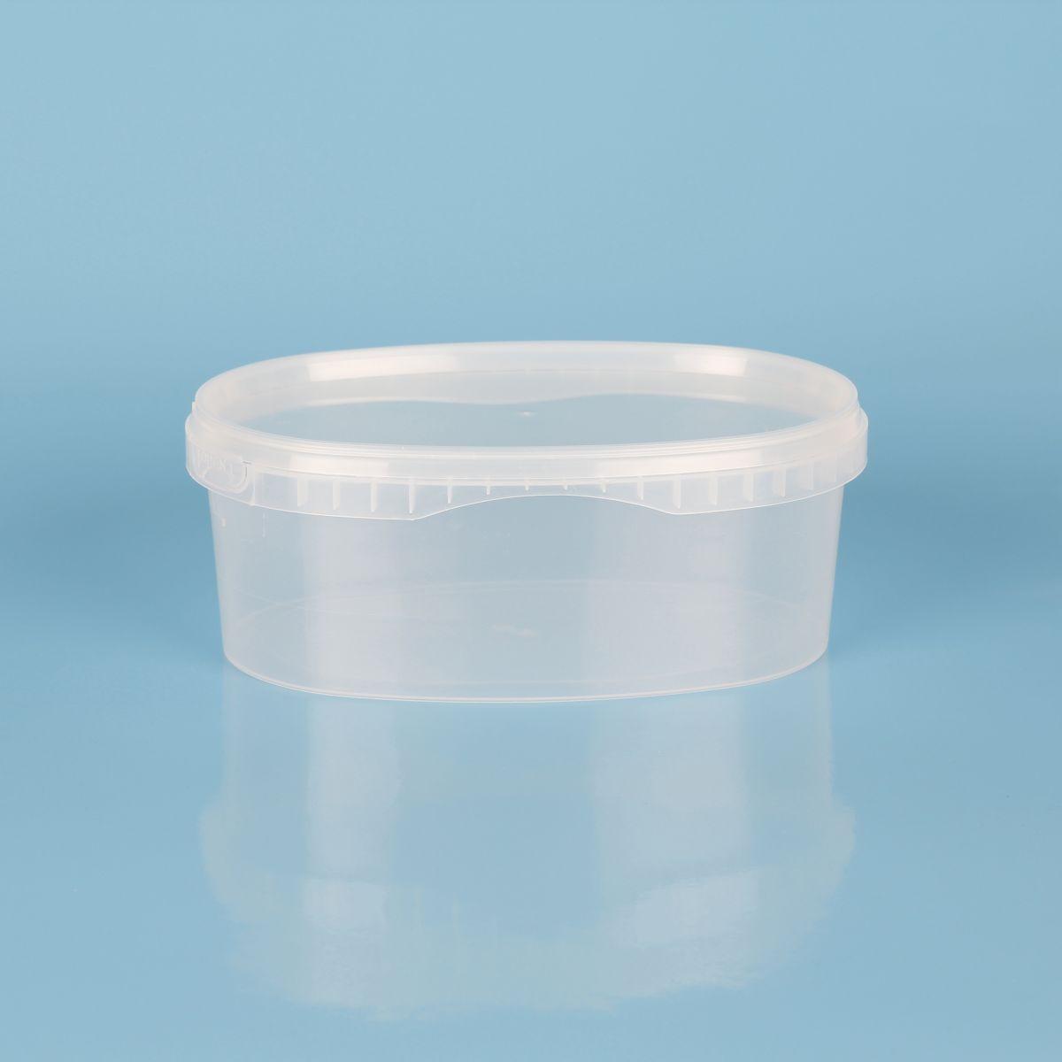 vaschetta in plastica per alimenti con coperchio