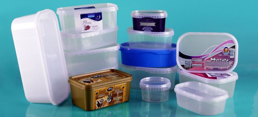Polypropylene trays for food and ice cream