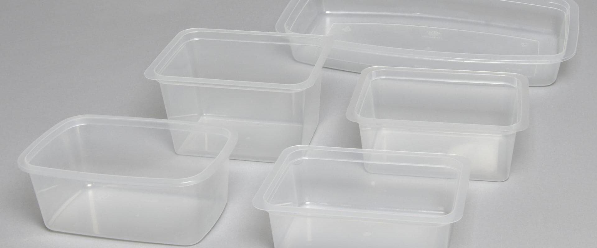 Vaschette in plastica per alimenti da termosaldare