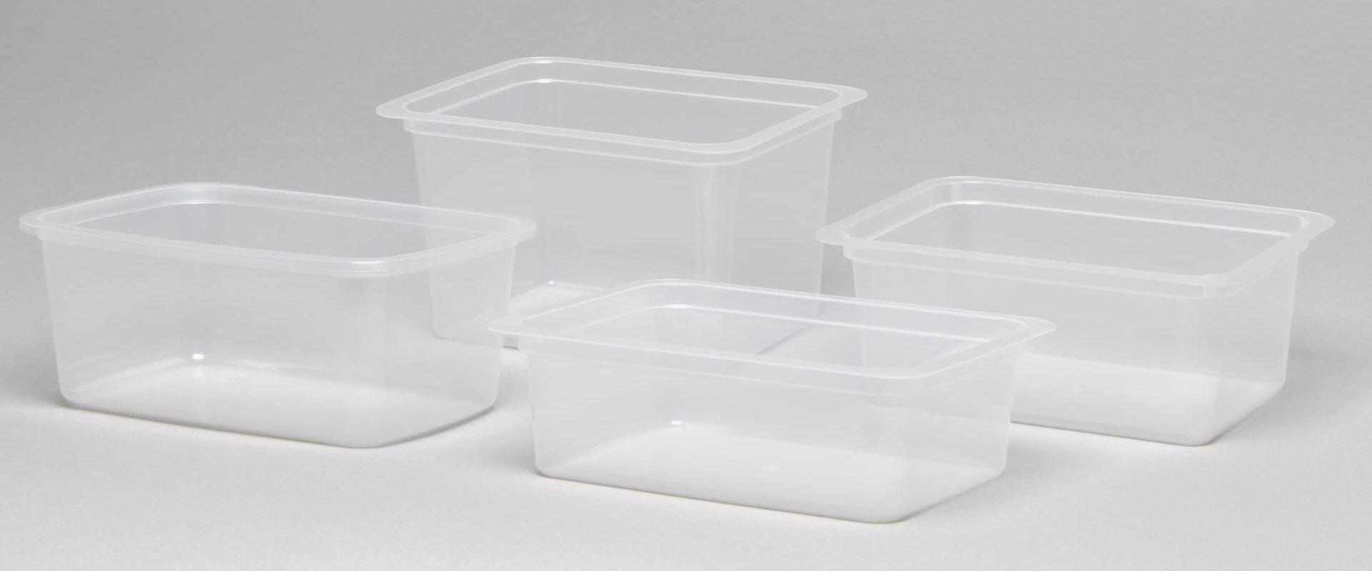 Contenitori in plastica trasparente per termosaldatura