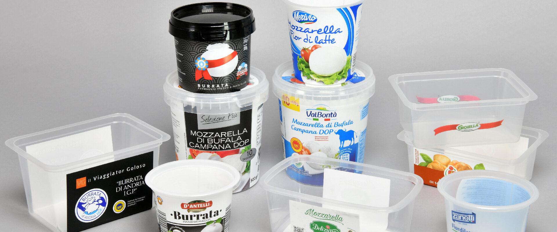 Vaschette termosaldate e barattoli plastica con coperchio ermetico